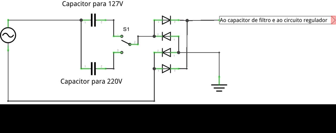 Fonte com chave seletora para 110V e 220V